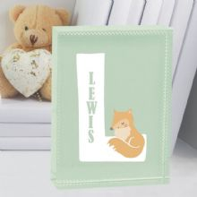 New Baby Boy Letter Personalised Fox Crystal Keepsake - Christening/Naming Day Present